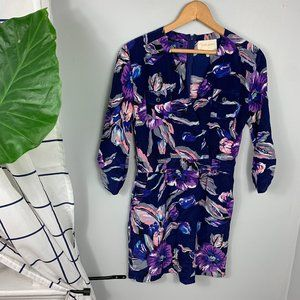 Yumi Kim Casual Mini Wrap Dress Floral Size S